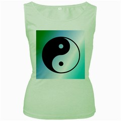 Ying Yang  Women s Tank Top (green)