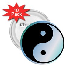 Ying Yang  2 25  Button (10 Pack)
