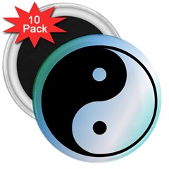 Ying Yang  3  Button Magnet (10 pack)