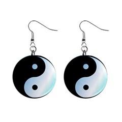 Ying Yang  Mini Button Earrings
