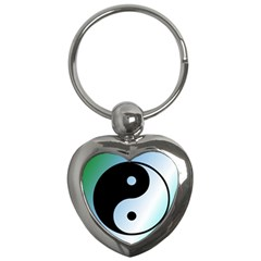 Ying Yang  Key Chain (Heart)