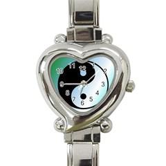 Ying Yang  Heart Italian Charm Watch