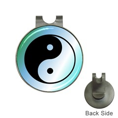 Ying Yang  Hat Clip With Golf Ball Marker