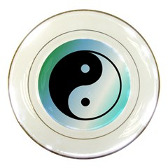 Ying Yang  Porcelain Display Plate