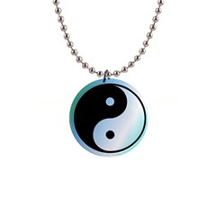 Ying Yang  Button Necklace