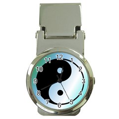 Ying Yang  Money Clip With Watch