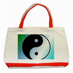 Ying Yang  Classic Tote Bag (Red)