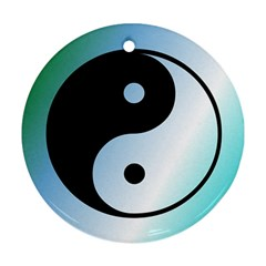 Ying Yang  Round Ornament (two Sides)