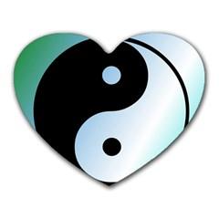 Ying Yang  Mouse Pad (Heart)