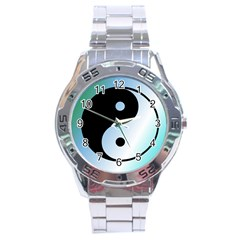 Ying Yang  Stainless Steel Watch