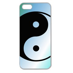Ying Yang  Apple Seamless Iphone 5 Case (clear)