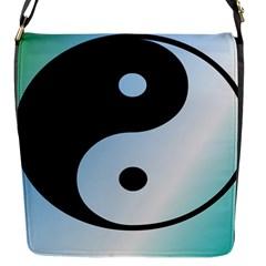 Ying Yang  Flap Closure Messenger Bag (Small)