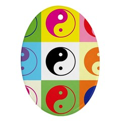 Ying Yang   Oval Ornament