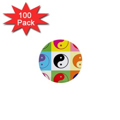 Ying Yang   1  Mini Button (100 pack)
