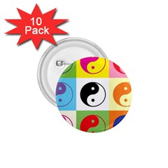Ying Yang   1 75  Button (10 Pack)