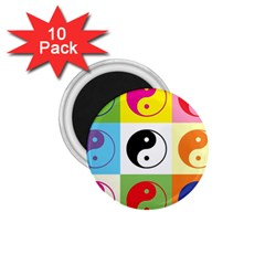 Ying Yang   1.75  Button Magnet (10 pack)