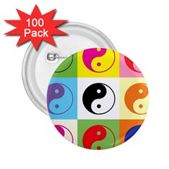Ying Yang   2.25  Button (100 pack)