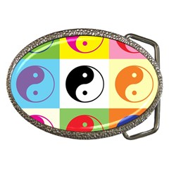 Ying Yang   Belt Buckle (oval)