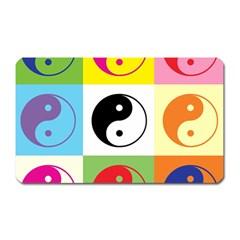 Ying Yang   Magnet (rectangular)