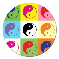 Ying Yang   Magnet 5  (Round)