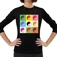 Ying Yang   Women s Long Sleeve T-shirt (Dark Colored)