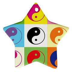 Ying Yang   Star Ornament (Two Sides)