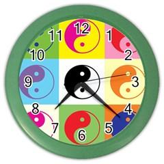 Ying Yang   Wall Clock (Color)