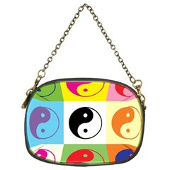 Ying Yang   Chain Purse (Two Sided)