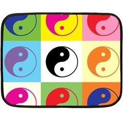 Ying Yang   Mini Fleece Blanket (two Sided)