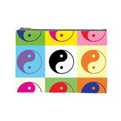 Ying Yang   Cosmetic Bag (large)