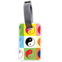 Ying Yang   Luggage Tag (two Sides)