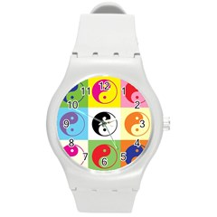 Ying Yang   Plastic Sport Watch (Medium)