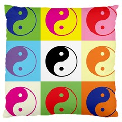 Ying Yang   Large Cushion Case (single Sided)