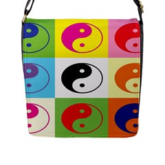 Ying Yang   Flap Closure Messenger Bag (large)