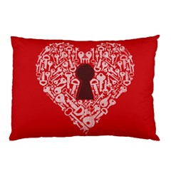 The Key To My Heart Pillow Case (two Sides)