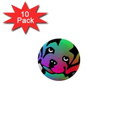 Dog 1  Mini Button Magnet (10 pack)