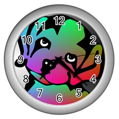 Dog Wall Clock (Silver)