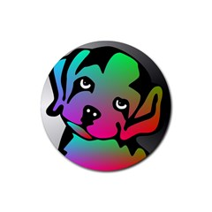 Dog Drink Coasters 4 Pack (Round)