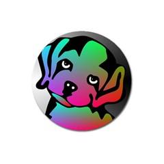 Dog Magnet 3  (Round)