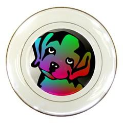 Dog Porcelain Display Plate
