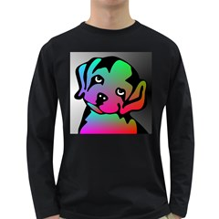 Dog Men s Long Sleeve T-shirt (Dark Colored)