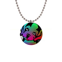 Dog Button Necklace