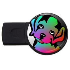 Dog 4gb Usb Flash Drive (round)