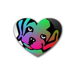 Dog Drink Coasters 4 Pack (Heart)
