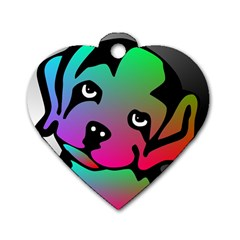 Dog Dog Tag Heart (Two Sided)