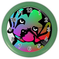 Dog Wall Clock (Color)