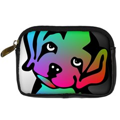 Dog Digital Camera Leather Case