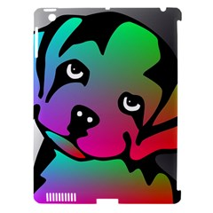 Dog Apple iPad 3/4 Hardshell Case (Compatible with Smart Cover)