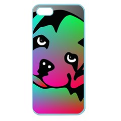 Dog Apple Seamless iPhone 5 Case (Color)