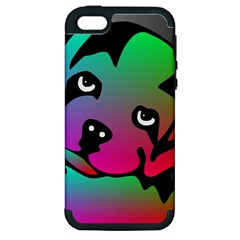 Dog Apple Iphone 5 Hardshell Case (pc+silicone)